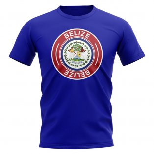 Belize Football Badge T-Shirt (Royal)