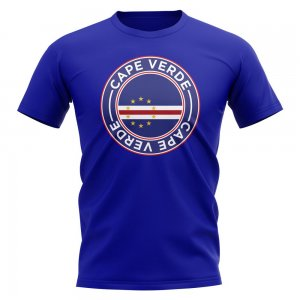 Cape Verde Football Badge T-Shirt (Royal)