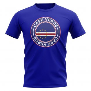 Cape Verde Football Badge T-Shirt (Royal)