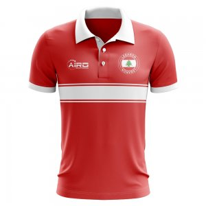 Lebanon Concept Stripe Polo Shirt (Red)