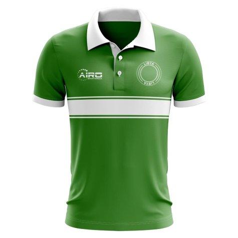 Libya Concept Stripe Polo Shirt (Green)