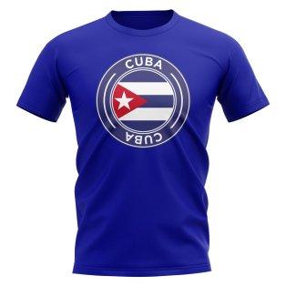 Cuba Football Badge T-Shirt (Royal)