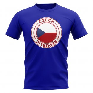 Czech Republic Football Badge T-Shirt (Royal)