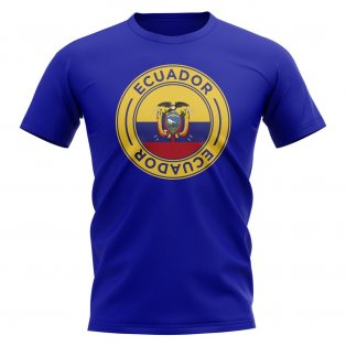 Ecuador Football Badge T-Shirt (Royal)