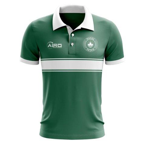 Macau Concept Stripe Polo Shirt (Green)