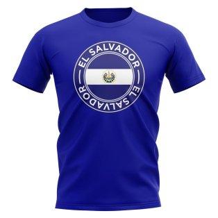 El Salvador Football Badge T-Shirt (Royal)