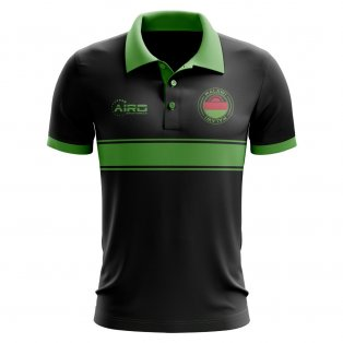 Malawi Concept Stripe Polo Shirt (Black)