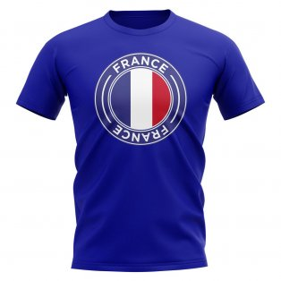 France Football Badge T-Shirt (Royal)