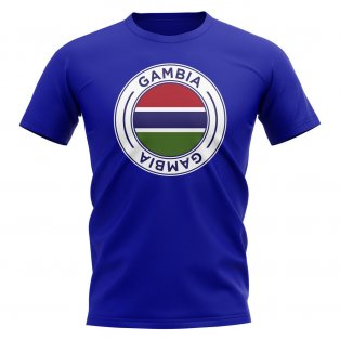 Gambia Football Badge T-Shirt (Royal)