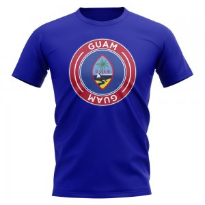 Guam Football Badge T-Shirt (Royal)