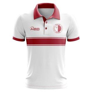 Malta Concept Stripe Polo Shirt (White)