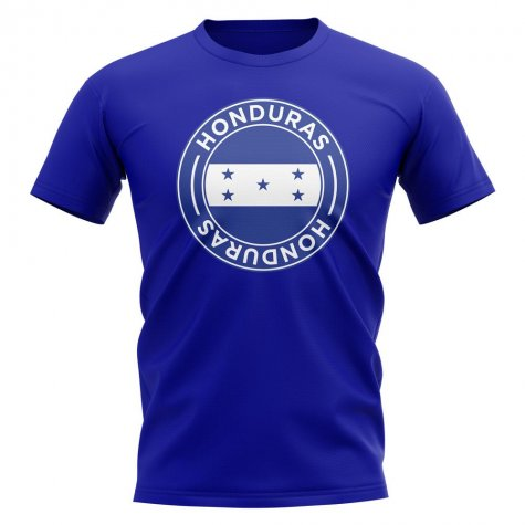 Honduras Football Badge T-Shirt (Royal)
