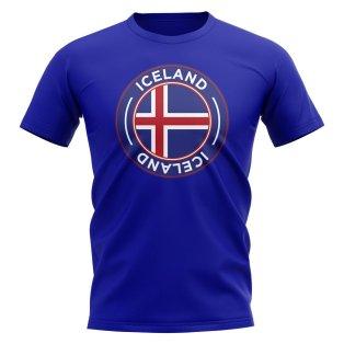 Iceland Football Badge T-Shirt (Royal)
