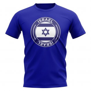 Israel Football Badge T-Shirt (Royal)