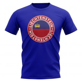 Liechtenstein Football Badge T-Shirt (Royal)