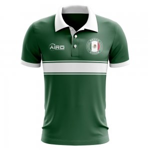 Mexico Concept Stripe Polo Shirt (Green)
