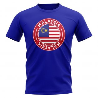 Malaysia Football Badge T-Shirt (Royal)