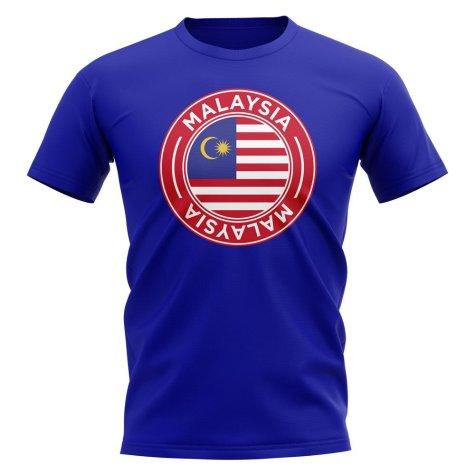 Malaysia Football Badge T-Shirt (Royal)