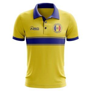 Moldova Concept Stripe Polo Shirt (Yellow)