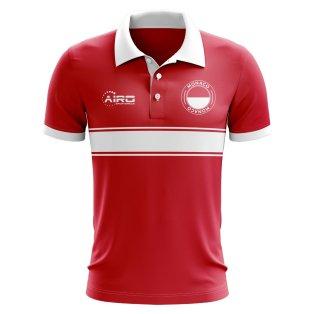 Monaco Concept Stripe Polo Shirt (Red)