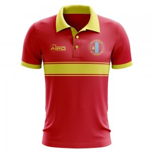 Mongolia Concept Stripe Polo Shirt (Red)