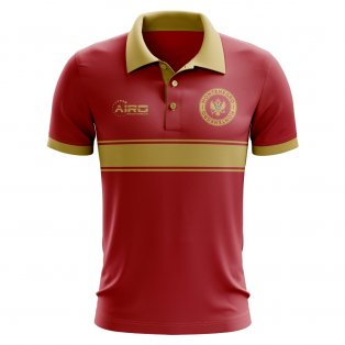 Montenegro Concept Stripe Polo Shirt (Red)