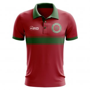Morocco Concept Stripe Polo Shirt (Red)