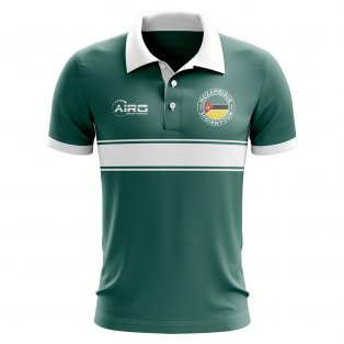 Mozambique Concept Stripe Polo Shirt (Green)