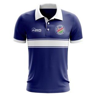 Namibia Concept Stripe Polo Shirt (Navy)