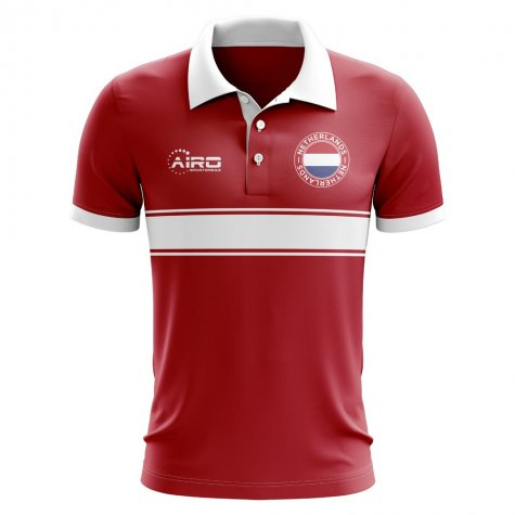 Netherlands Concept Stripe Polo Shirt (Red)