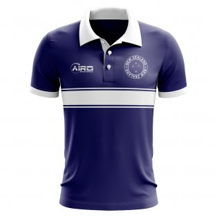 New Zealand Concept Stripe Polo Shirt (Navy)