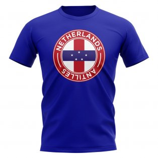 Netherlands Antilles Football Badge T-Shirt (Royal)