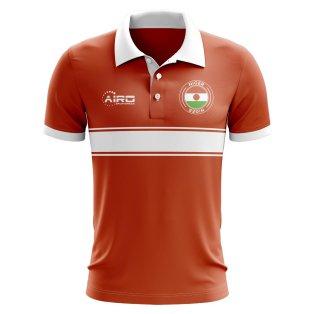 Niger Concept Stripe Polo Shirt (Orange)