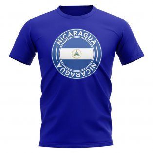 Nicaragua Football Badge T-Shirt (Royal)