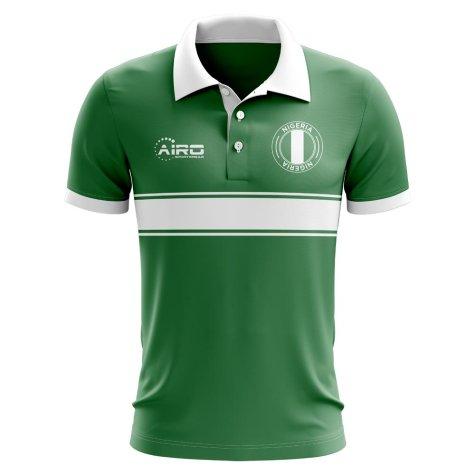 Nigeria Concept Stripe Polo Shirt (Green)