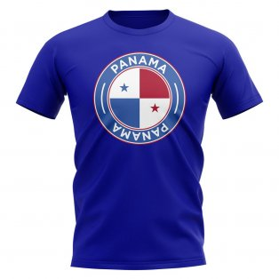 Panama Football Badge T-Shirt (Royal)