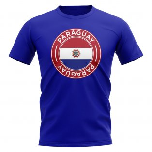 Paraguay Football Badge T-Shirt (Royal)