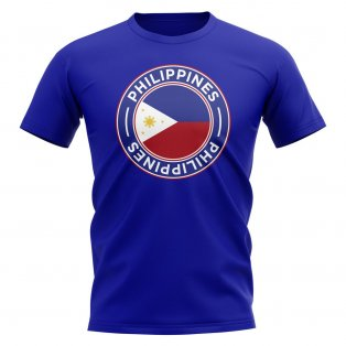 Philippines Football Badge T-Shirt (Royal)