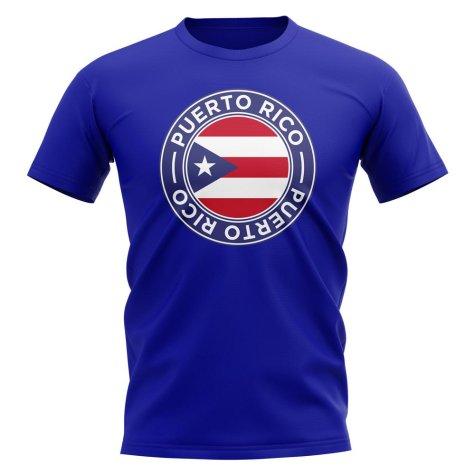 Puerto Rico Football Badge T-Shirt (Royal)