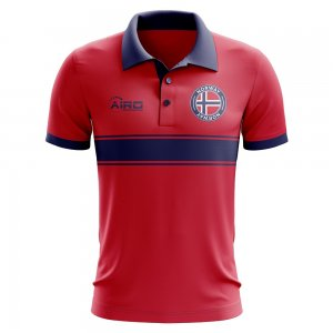 Norway Concept Stripe Polo Shirt (Red)