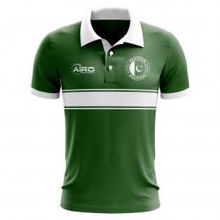 Pakistan Concept Stripe Polo Shirt (Green)