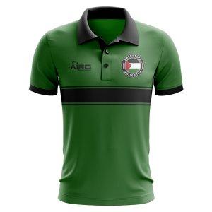 Palestine Concept Stripe Polo Shirt (Green) - Kids