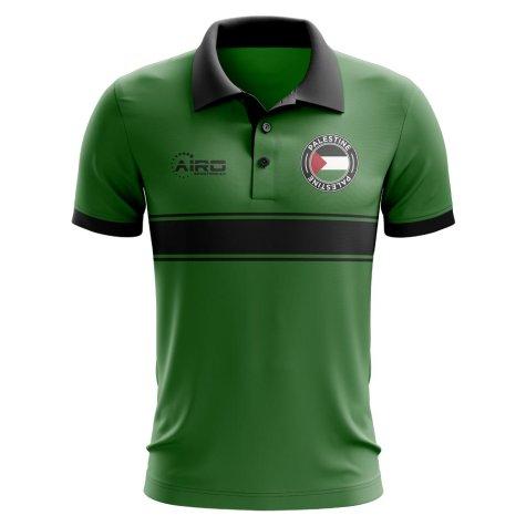 Palestine Concept Stripe Polo Shirt (Green)