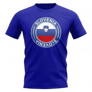 Slovenia Football Badge T-Shirt (Royal)