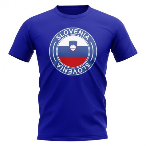 Slovenia Football Badge T-Shirt (Royal)