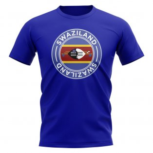 Swaziland Football Badge T-Shirt (Royal)