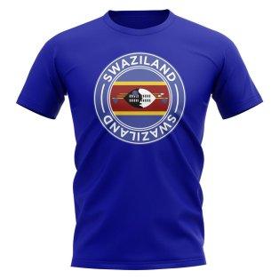 Swaziland Football Badge T-Shirt (Royal)