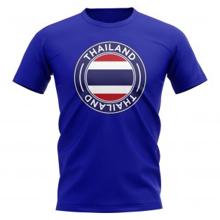 Thailand Football Badge T-Shirt (Royal)