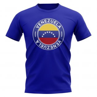Venezuela Football Badge T-Shirt (Royal)