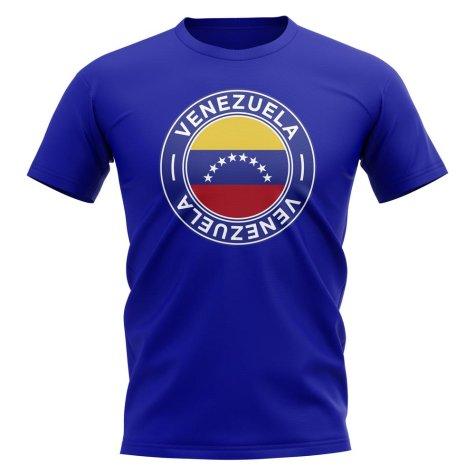Venezuela Football Badge T-Shirt (Royal)